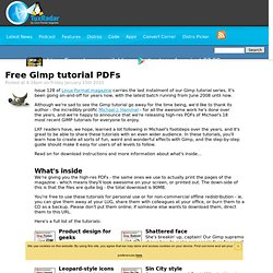 Free Gimp tutorial PDFs