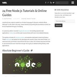 24 Free Node.js Tutorials & Online Guides