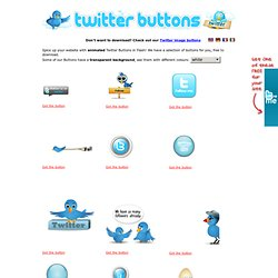 Flash Twitter Buttons for your website