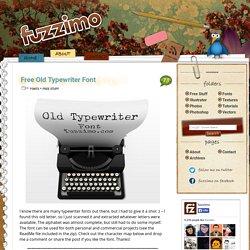 Free Old Typewriter Font