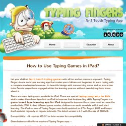 Free Typing Games for IPad - Typing Fingers