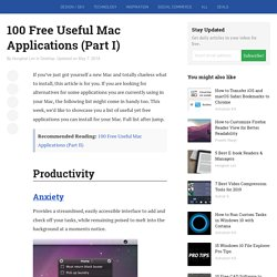 100 Free Useful Mac Applications (Part I)