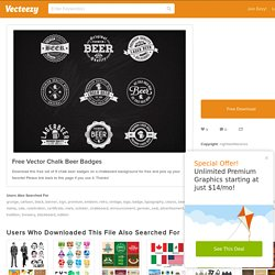 Free Vector Chalk Beer Badges