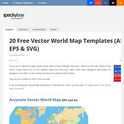 20 Free Vector World Map Templates (AI, EPS & SVG)