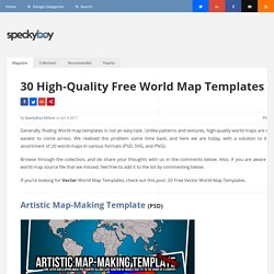 25 Free Vector World Maps