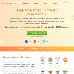 Free Video Converter| MP4 FLV 3GP AVI MKV DVD| FREE Download