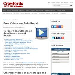 Free Videos on Auto Repair - Crawfords Auto Repair