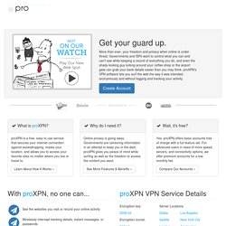 proXPN VPN | Get your FREE proXPN VPN account now!