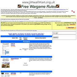 Free Wargame Rules - The Download Page