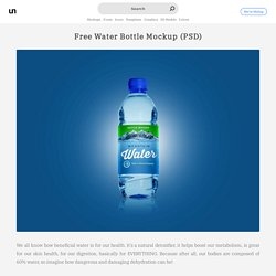 Free Water Bottle Mockup (PSD)