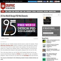 Free Web UI Design Elements PSD