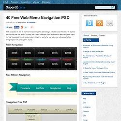 40 Free Web Menu Navigation PSD