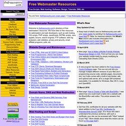 ! Free Web Dev & Webmaster Resources