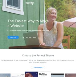 Weebly - Website Creation Made Easy