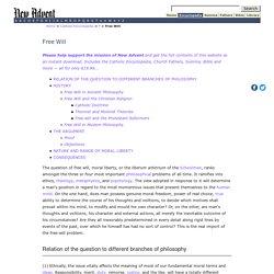 Free Will New Advent (Catholic Encyclopedia)