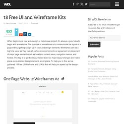 18 Free UI and Wireframe Kits
