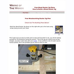 Free Wood Router Jig Plans - How to Build A Wood Router Jig