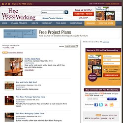 'Free Woodworking Plans' Blog