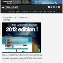 250 Free Word Press Themes! 2012 edition