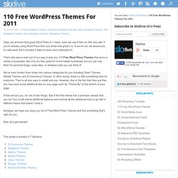 110 Free Wordpress Themes For 2011