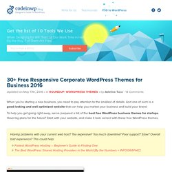 30+ Free WordPress Business Themes 2016