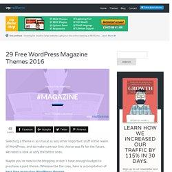 29+ Free WordPress Magazine Themes in 2016