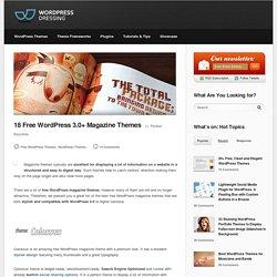 18 Free WordPress 3.0+ Magazine Themes
