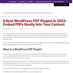 13 Free WordPress PDF Plugins