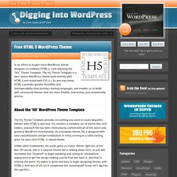 Free HTML 5 WordPress Theme