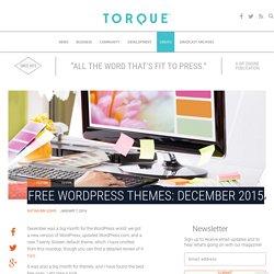 Free WordPress Themes: December 2015