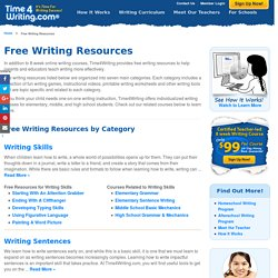 Free Writing Resources