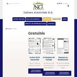 Freebie Archive – Cahiers d'activités N.G.