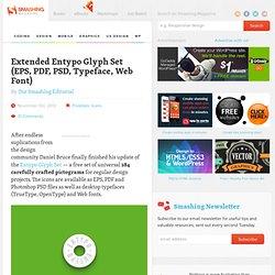 Freebie: Extended Entypo Glyph Set (EPS, PDF, PSD, Typeface, Web Font)
