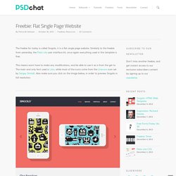 Freebie: Flat Single Page Website