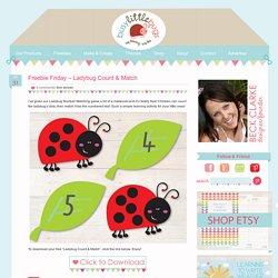 Freebie Friday – Ladybug Count & Match