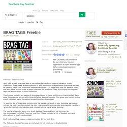 PBIS BRAG TAGS Freebie ON TPT