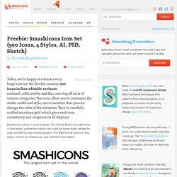 Freebie: Smashicons Icon Set (AI, PSD, Sketch)