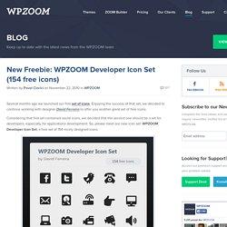 New Freebie: WPZOOM Developer Icon Set (154 free icons)
