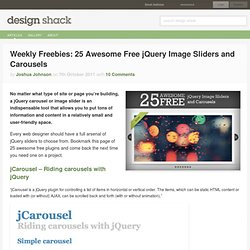 Weekly Freebies: 25 Awesome Free jQuery Image Sliders and Carousels