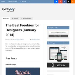 The Best Freebies for Designers (January 2014)
