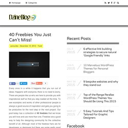 40 Freebies You Just Can't Miss!Dzineblog360