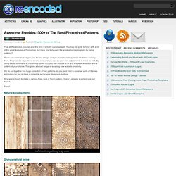 Awesome Freebies: 500+ of The Best Photoshop Patterns