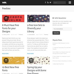 Freebies | Web Design Ledger
