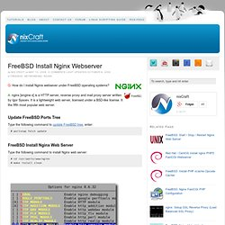 FreeBSD Install Nginx Webserver