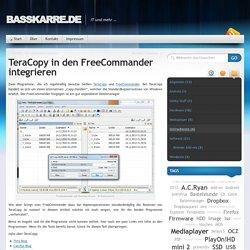 Basskarre.de » TeraCopy in den FreeCommander integrieren