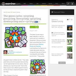 The green cycles: recycling, precycling, freecycling, upcycling, downcycling and e-cycling - Louisville Green Living
