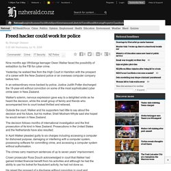 Freed hacker could work for police
