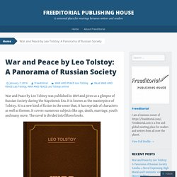 War and Peace by Leo Tolstoy: A Panorama of Russian Society
