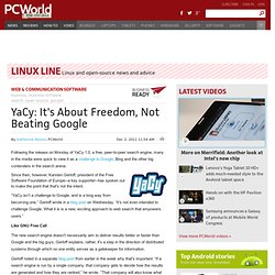 YaCy: It's About Freedom, Not Beating Google