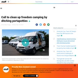 Call to clean up freedom camping by ditching portapotties